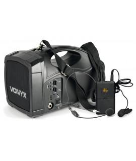 ST-012 Enceinte  amplifiée portable 30 Watts avec micro sans fil serre tête