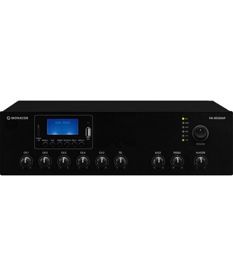 PA-803DAP Amplificateur 30 Watts 100 V MP3 - USB - TUNER DAB+ - BT