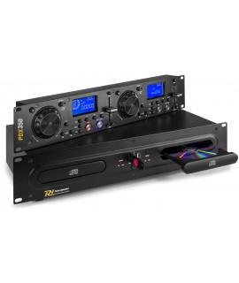 PDX350 Lecteur CD Double MP3 - USB Power Dynamics