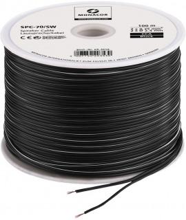 SPC-70/SW Câble haut-parleur noir Bobine de 100 mètres