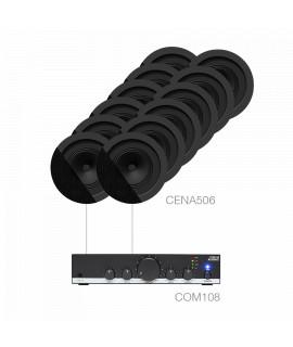 PACKCANTO5.12/B Pack complet avec amplificateur et haut-parleurs plafond
