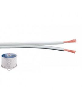 SPC-70/WS Câble haut-parleur blanc Bobine de 100 mètres