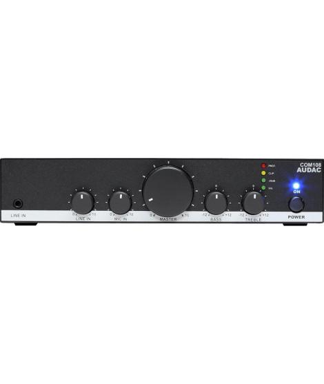 COM108 Amplificateur mélangeur 80 Watts 100 V - AUDAC
